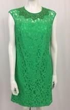 Adrianna Papell Green Lace Beaded Sleeveless Dress Size 8 - $49.49