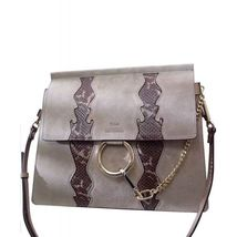 CHLOE SUEDE MEDIUM FAYE BAG GRAY - $38.408,77 MXN