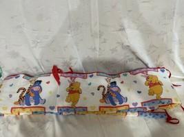 Vintage 1990's Disney Winnie The Pooh Crib Bumper Bedding Tigger Eeyore - $39.55
