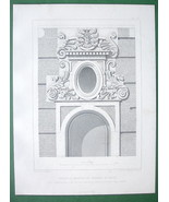ARCHITECTURE PRINT : FRANCE Tavannes Castle at Pailly Ornamental Facade ... - $12.15