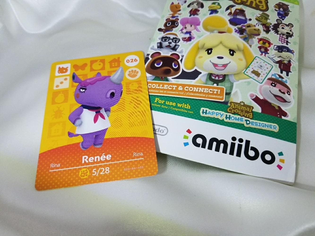 026 - Renee - Series 1 Animal Crossing Villager Amiibo Card