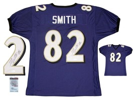 Torrey Smith SIGNED Purple Jersey - JSA Witnessed - Autographed w/ Photo - $98.99