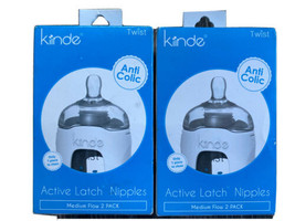 Kiinde Twist Active Latch Nipples Medium Flow Anti-Colic 2 Boxes 4 Total New - $13.49