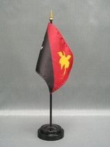 """Papua New Guinea 4X6"""" Table Top Flag W/ Base New Desk Top Handheld Stick Flag - $4.95"""