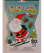 CHRISTMAS STICKERS Sticker Book 80-ct Santa Sleigh Snowman Gingerbread H... - $4.99