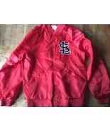 Rare Beautiful Vintage Nylon Satin Jacket St. Louis Cardinals small 80s - $39.89