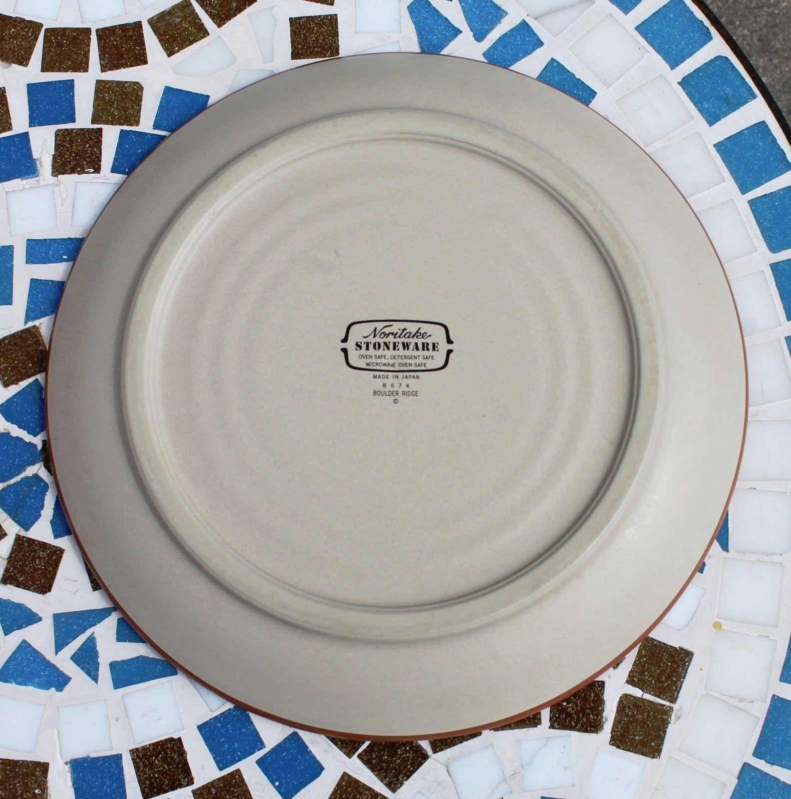 Noritake Stoneware Japan Dinner Plate & Cereal Soup Bowl Boulder Ridge Turquoise image 8