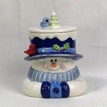 Houston Harvest Snowman Ceramic Cookie Jar - $9.79