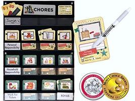 NEATLINGS Chore Chart System | 1 Child | 80+ Chores | Teal & Yellow Cards - $38.95