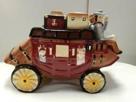 Wells Fargo Stagecoach US Mail Ceramic Cookie Jar2016 NIB New - $48.33