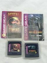 Lot Of 2 Sega Game Gear Games: Mortal Kombat & Mortal Kombat II 2 Cases ... - $28.89