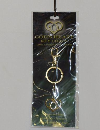 DM Merchandising GHKC Gods Heart Key Chain Gold Silver Finish