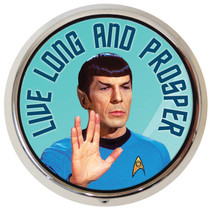 Classic Star Trek TV Series Mr. Spock Photo Illustrated Pill Box, NEW UNUSED - $14.50