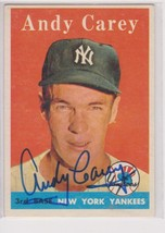 Andy Carey Signed Autographed 1958 Topps Baseball Card - New York Yankees - $19.99