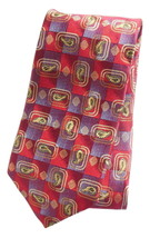 Robert Talbott 57 Inch Silk Tie for Men Geometric Medium Red Wine Best o... - $9.95