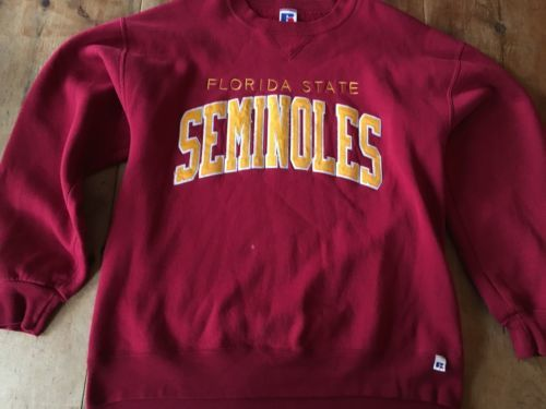 VTG FSU Florida State University Seminoles Crew Neck Sweatshirt L  USA MADE