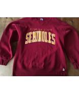 VTG FSU Florida State University Seminoles Crew Neck Sweatshirt L  USA MADE - $17.09