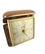 Vintage Bradley Traveling Fold Up Wind Up Travel Alarm Clock made in Jap... - $25.54