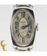 Vintage Gruen 14k White Gold Women's Art Deco Hand-Winding Watch w/ Stre... - $1,128.53