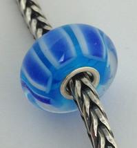 Authentic Trollbeads Ooak Murano Glass Unique Bead Charm #131, 13mm Diameter New - $33.24