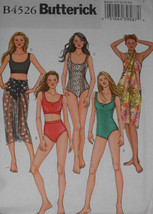 Swimsuit and Wrap Misses Size 14-20 Butterick 4... - $8.90