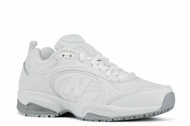 New Balance Women's 623v2 Slip Resistant White Leather Sneakers Size 10 - $47.99
