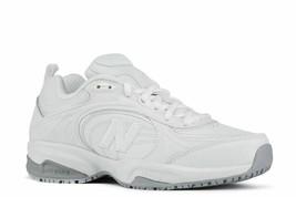 New Balance Women's 623v2 Slip Resistant White Leather Sneakers Size 10 - $47.99