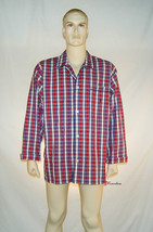 Polo Ralph Lauren Men's Sleepwear Shirt Red and Blue Checkered 100% Cott... - $19.00