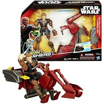 Star Wars Year 2015 Hero Mashers 6-1/2 Inch Tall Figure with Vehicle Set... - $34.99
