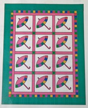 Patty's Parasol Lap Quilt Pattern by Sue Bouchard Quilt in a Day 47 x 60... - $7.37