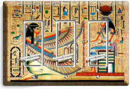 ANCIENT EGYPTIAN GODDESSES MAAT ISIS 3 DECORA LIGHT SWITCH PLATES WALL A... - $17.99
