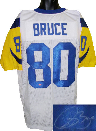 Primary image for Isaac Bruce signed White TB Custom Stitched Pro Style Football Jersey XL- Bruce