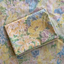 Vintage Fieldcrest Perfection Percale Floral Full Double FLAT Sheet + Pi... - $24.99