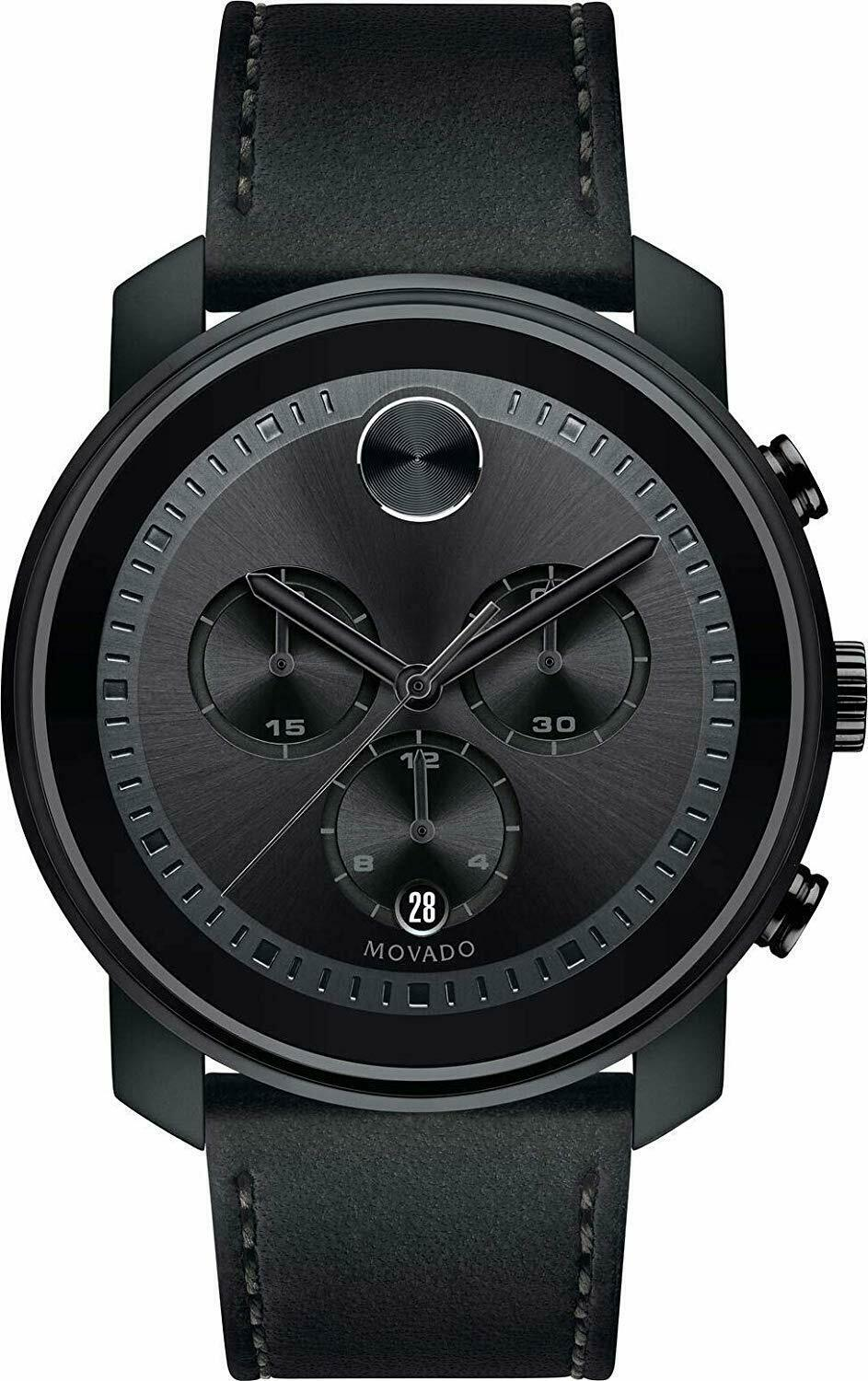 Primary image for Movado Bold Chronograph Quartz Black Dial Men's Watch 3600604