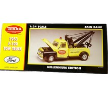 Gearbox Tonka Yellow 1953 Ford F-100 Tow Truck Millennium Edition Coin B... - $48.19