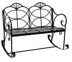Decorative Metal Outdoor Garden Rocking Chair Bench - $239.99