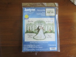 """1999 Janlynn FROM THIS DAY FORWARD Counted Cross Stitch Kit - 14"""" x 11""""   - $9.90"""