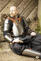 Historicalhub Knight Collectible Armour Suit Brown Mercenary LARP Armor - $332.22