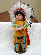 """1995 Danbury Mint """"Little Chief Standing Bear"""" by Karen Scott Porcelain Doll - $94.00"""