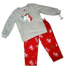 Carter's Christmas Unicorn Pajamas 2-Piece Fleece PJs Toddler Girl Size 2T NWT   - $12.82