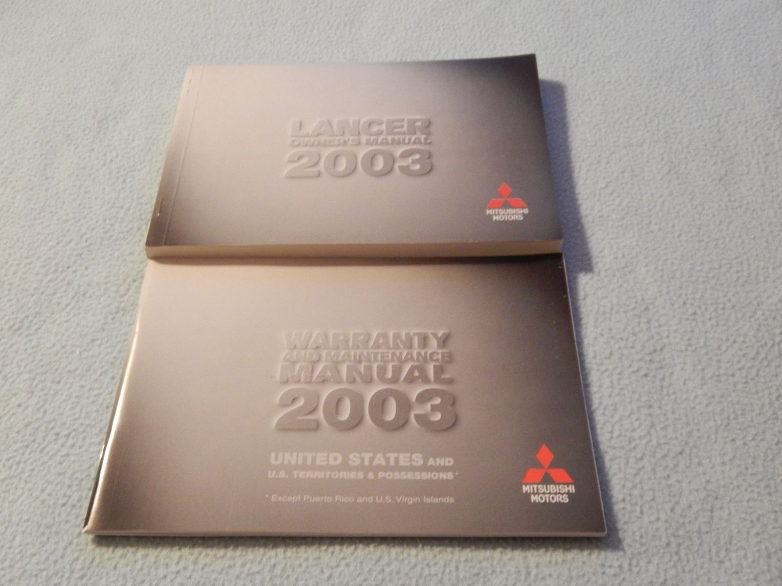 2003 Mitsubishi Lancer Owners Manual With Binder