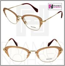 7dadb960c902 Miu Miu Noir MU53OV Gold Matte Pink Eyeglasses Rx Optical Frame 50 Mm 53O  Metal -