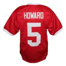Vince Howard #5 East Dillon Lions Men Football Jersey Red Any Size image 2