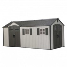 Lifetime 17.5x8 Plastic Storage Shed Kit w/ Double Doors [60213] - $2,690.88
