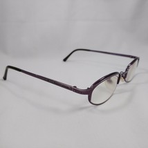CHRISTIAN DIOR Eyeglass Frames Silver Purple Metal Oval Frame CD3588 24U Austria - $13.50