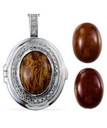 20 in stainless steel Interchangeable Pendant with gemstones 17.25 carats - $38.06