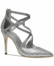 Michael Michael Kors Women Catia Glitter Silver/Gunmetal Pumps Size 8 - $108.89