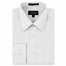 Omega Italy Men's Button Up Long Sleeve White Dress Shirt Medium w/ Defect