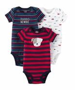 Carter's Daddys Newbie Short Sleeve Baby Bodysuits 3-Pack Newborn - $14.39