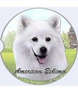 American Eskimo Car Coaster Absorbent Keep Cup Holder Dry Stoneware New Dog - $10.88